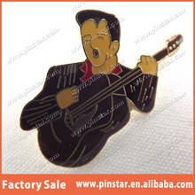 Alibaba Gold Supplier Top Quality Human Being Country Singer Tie Hat Pin Heady Lapel Pin Badge Tamworth Festival Gift