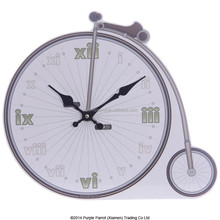 Shaped MDF Picture Clock Penny Farthing Bicycle