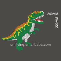 2012 Latest hot fix rhinestone dragon design