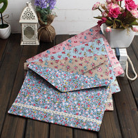 100pcs New vintage dots flower lace series A4 documents file bag /File folder / stationery Filing Production DHL Freeshipping