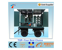 used insulating oil filter machine,trailer style, ove easy,fully enclosed,waterproof,dustproof,advanced systems,safe&reliable