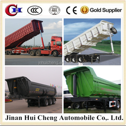 Customized side tipping trailer ,use of effciently transport sands,small stones,and other building materials