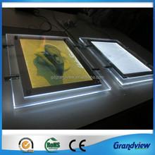 edge lighting crystal acrylic led display panel