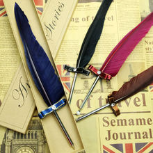Writing gift goose feather quill pen