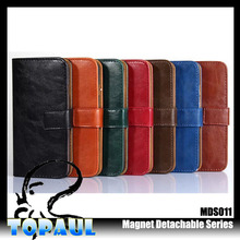 magnetic leather luxury genuine flip cover mobile phone wallet case for iphone6