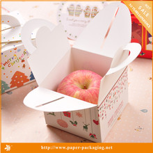 Exquisite Popular Foldable Single Apple Fruit Paper Packaging Boxes