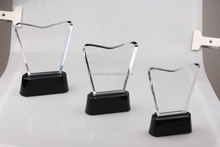 High Quality Crystal Award Trophy with Black Crystal Base