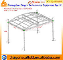 Aluminum arched roof truss system, professional stage truss system for sale