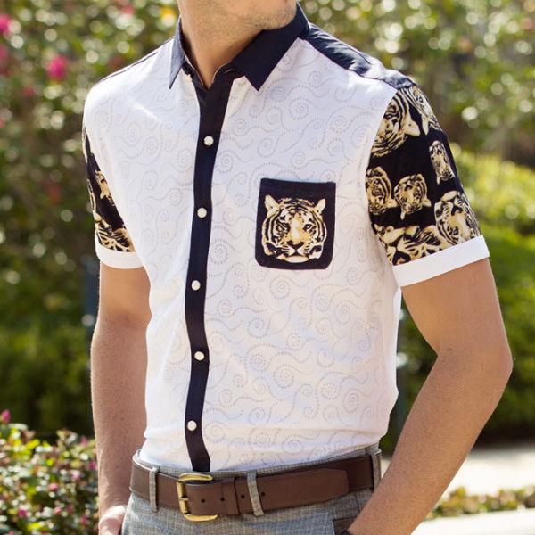 Latest design silk shirt new design men batik shirts buy for Men s batik bay silk blend button down shirt