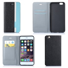 New design Assorted Color PU Leather phone case for iphone 6 plus 5.5inch