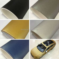 High stretch pvc self-adhesive Aluminium brushed metal vinyl car wrap