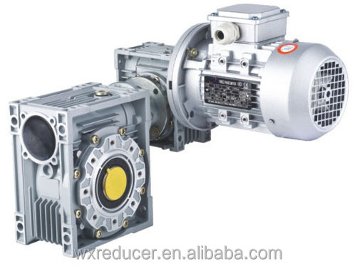 Combination Worm Gear Units Gearbox Aluminum Case NMRV / NMRV030+040 , 030+050 , 030+063 , 040+075 ,