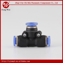 HUAWEI high quality plastic compression quick connect push in fitting push to connect branch tee
