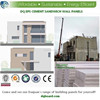 composite cement sandwich wall panels for prefab villa
