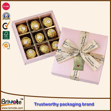 chocolate box packaging custom/special chocolate packaging boxes with sliding lid/foldable paper chocolate boxes