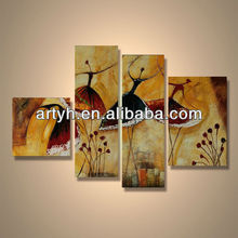 Popular modern handpainted abstract painting decorative productions