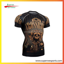 custom compression surfing rash guard shirts UV 50+long- sleeves shirts with sublimatin print
