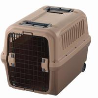 Wheels portable plastic pet cage