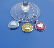 funny metal circle multi pendant charms for wine glass