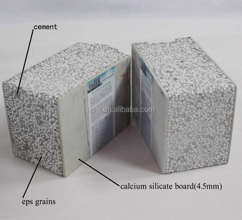 Chine eps panneau sandwich fiber ciment maison