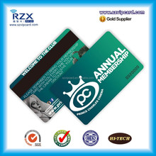 4 color printing plastic card with magnetic stripe
