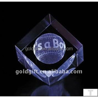 Wholesale price crystal golf ball souvenirs trophy