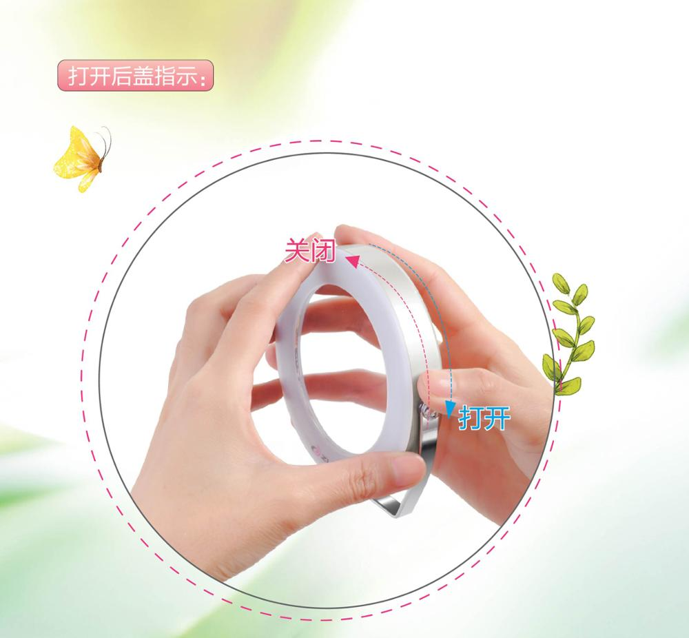 Wholesale cheap 360 degree free rotation led lighted makeup mirror led makeup mirror for lady