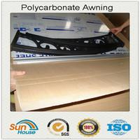 Polycarbonate canopy awning parts brackets