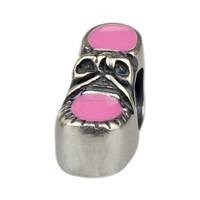 Wholesale Pink Platform Shoe Charm 925 Sterling Silver Jewelry for European Bracelet