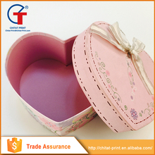 2015 Factory Production Heart Shape Art Paper Box For Gift Packing