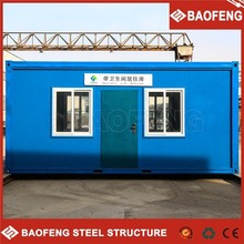 exquisite movable prefabricated container house wheel