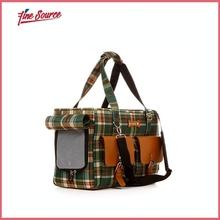 High Quality Plaid Pet Bag Outdoor Dog Bag
