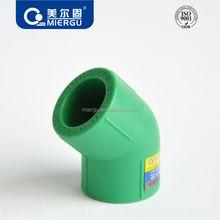 Chines manufacturer factory price Polypropylene 45 degree equal elbow