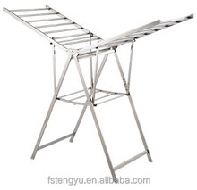 Houseware steel foldable clothes drying rack cloth dryer with wings