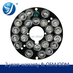 Electronic manufacturing company Latest security equipment 8mm 24 pcs infrared illuminator light bulb for cctv camera board