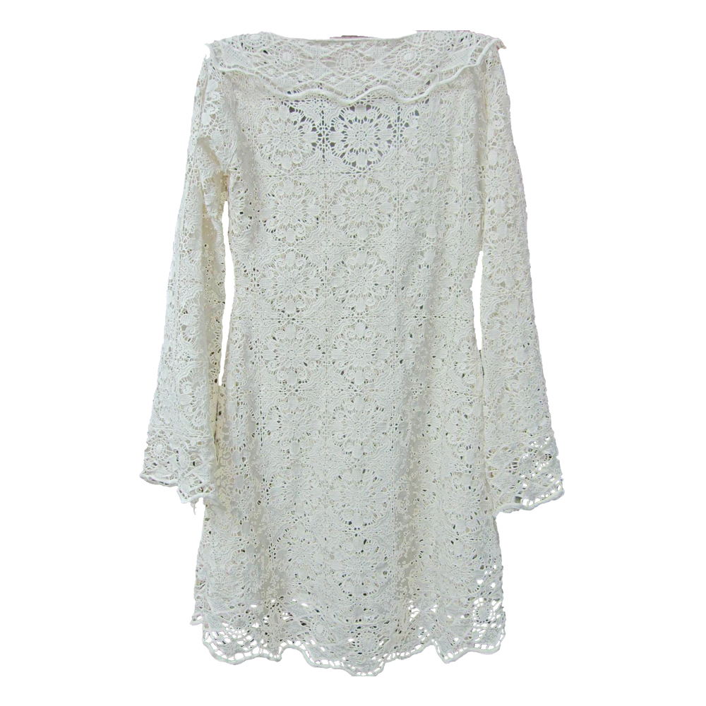 White Long Sleeve Lace Blouse 89