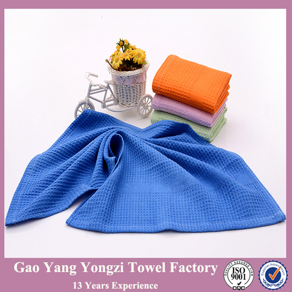 Wholesale Plain Coloured Cotton Waffle Kitchen Towel Of
