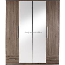 Bedroom furniture/Four double drawer wardrobe/Mirror wardrobe Manufacturer