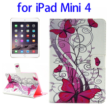 Best selling TPU + PU Horizontal Flip Leather Case for iPad Mini 4 flip cover