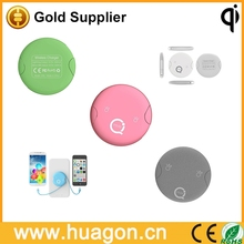 Portable multifunction QI standard wireless receiver pad for iphone and smart phone wireless charger