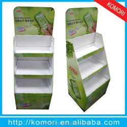 Popular komori cardboard display for mobile phone showroom