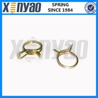 Zinc plated double tension spring clips