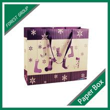 DISPOSABLE CANDY PAPER BAG SHOPPING BAG CHRISTMAS KRAFT PAPER BAG WITH PRINTED LOGO