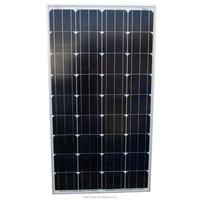 Mono-crystalline Solar Panel 120 Watt Power 12V PV Module / Solid Aluminium Frame