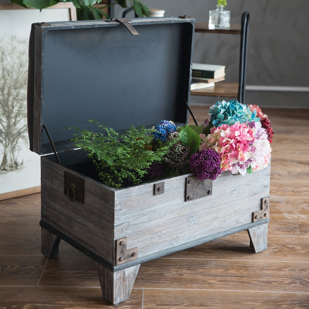 Pastoral Vintage Wooden Storage Bench Footstool Buy