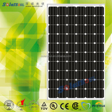 high efficiency grade A monocrystalline 12v solar panel 250w solar battery with TUV UL CE