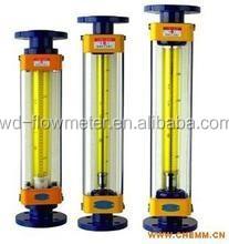 Lzb serie caja de acero inoxidable tubo de vidrio medidor de flujo