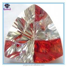 fat triangle shaped multi-color cubic zircon