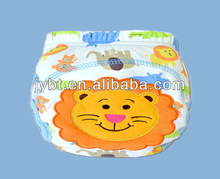 baby cloth nappies sleepy cheap baby diaper ,washable with cartoon embroideried training pant