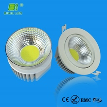 Modern 360degree adjustable immable roung cob led recessed downlight